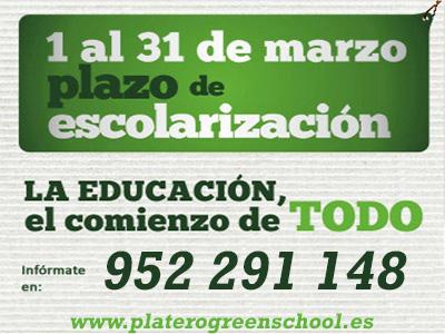 ESCOLARIZACIÓN PLATERO GREEN SCHOOL 2019/20